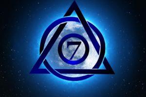 Logo de BeSeven apposé à la Lune
