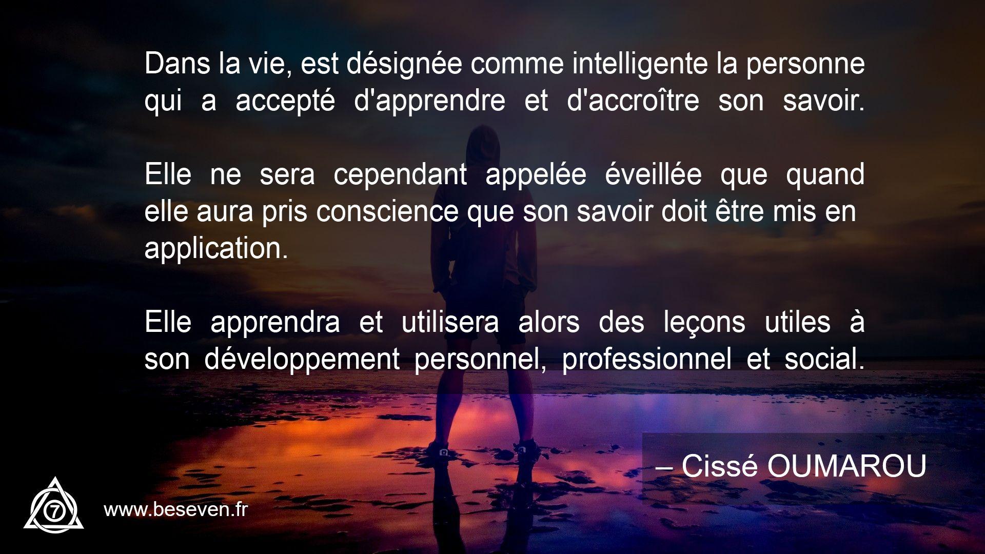 Image avec la citation de Cissé Oumarou